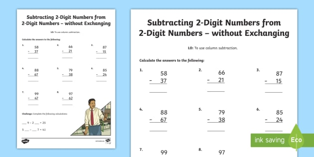 Year 3 Subtracting 2.