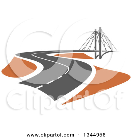 Clipart of an Aerial View down on Congested Traffic Roads.