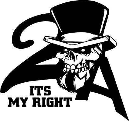 Amazon.com: 2nd Amendment Its My Right To Bear Arms Skull.
