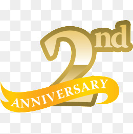 2nd Anniversary Clipart.