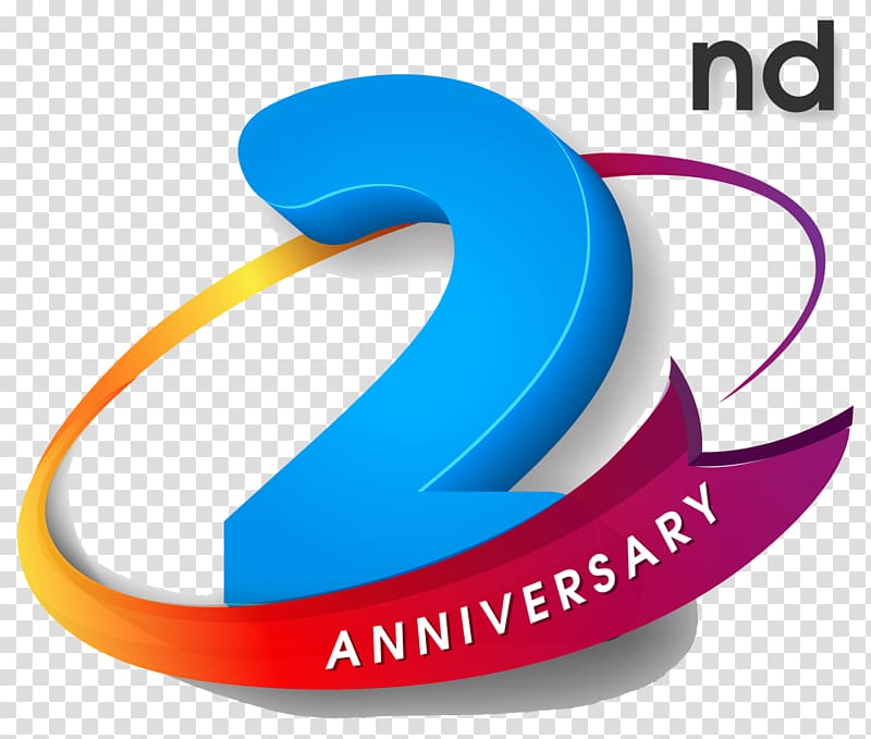 2nd anniversary illustration, Logo Wedding anniversary Party.