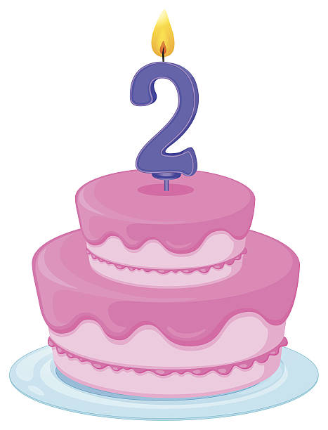 Clip Art Of A 2nd Birthday Illustrations, Royalty.