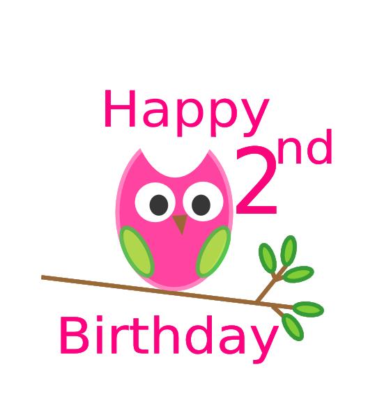 Owl 2nd Birthday Clip Art at Clker.com.