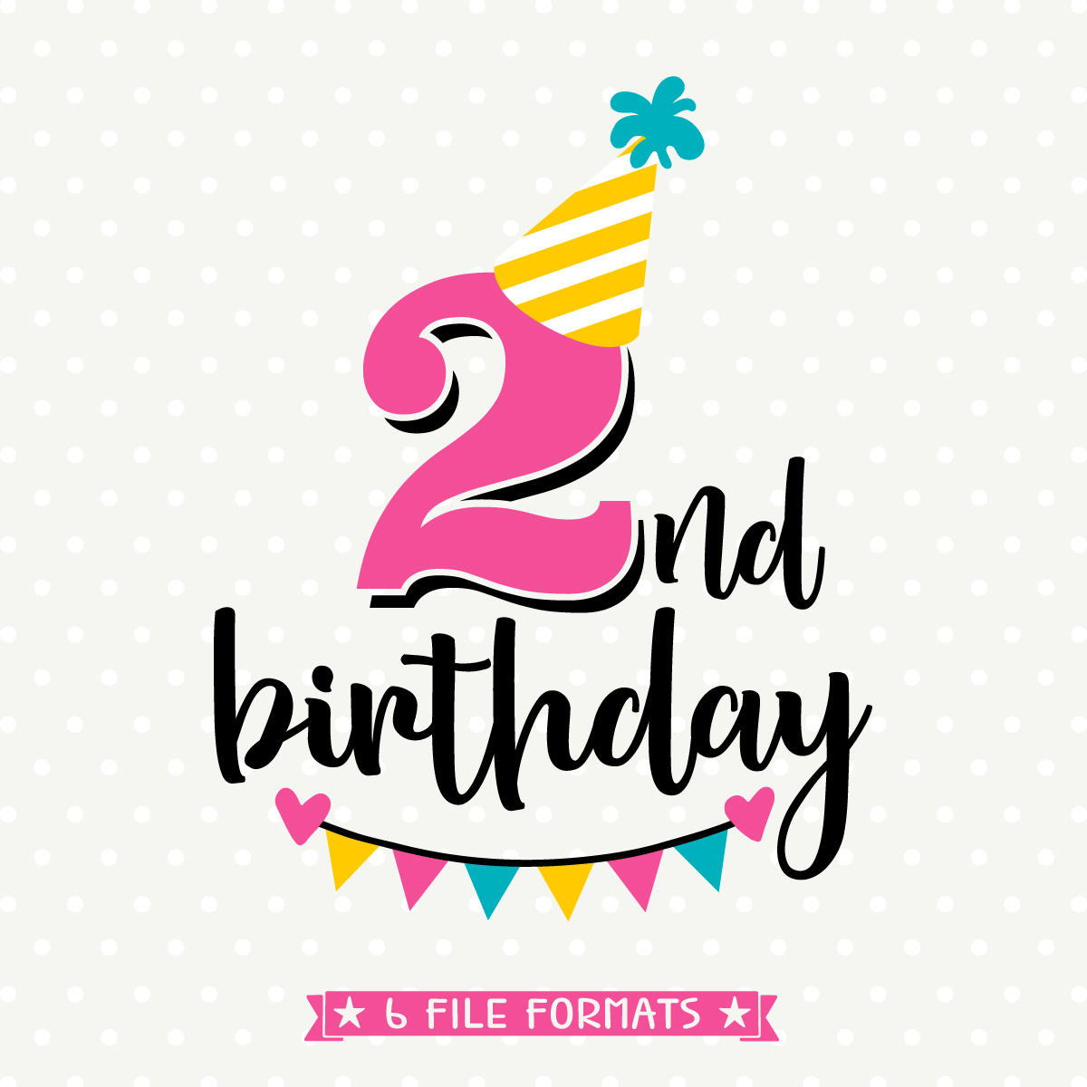 2nd birthday clipart 6 » Clipart Station.