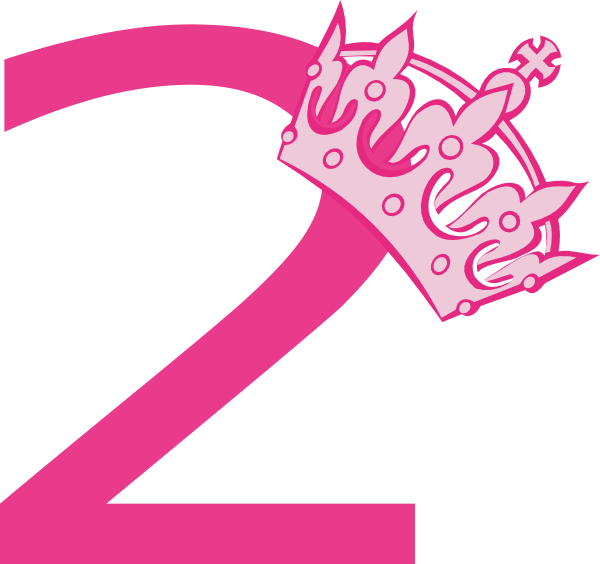 2nd Birthday Pink Tiara Clip Art at Clker.com.