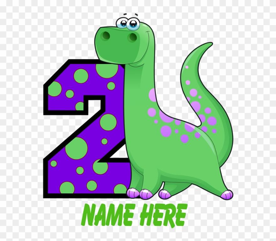 2nd Birthday Dinosaur Custom T.