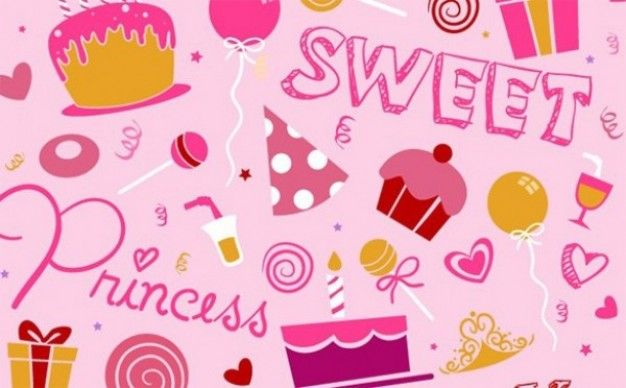 stylish pink birthday background vector.