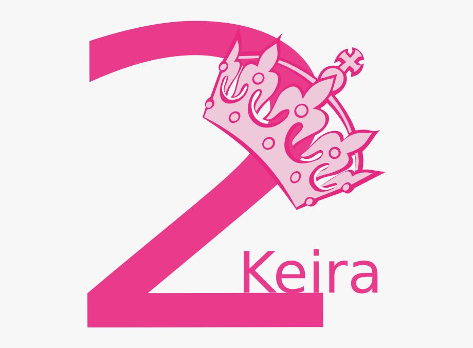 2nd Birthday Pink Tiara Keira Clip Art.