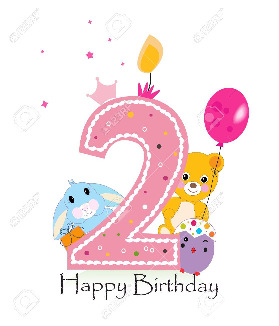 Happy 2nd Birthday Clipart.