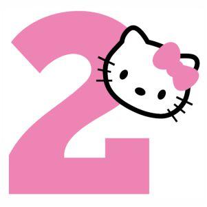 Hello kitty 2nd Birthday vector.