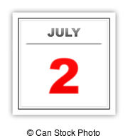July 2 day on the calendar Illustrations and Clip Art. 13.