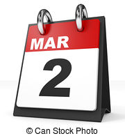 Calendar 2 march Clipart and Stock Illustrations. 237.