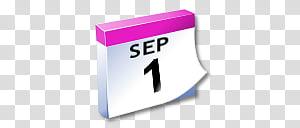 WinXP ICal, July calendar illustration transparent.