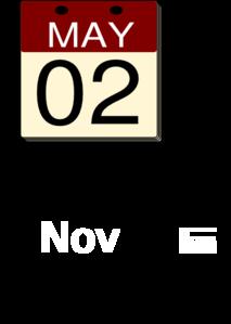 Calendar Clip Art at Clker.com.