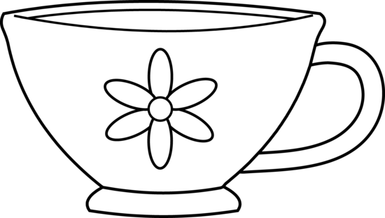 Cute Teacup Coloring Page.