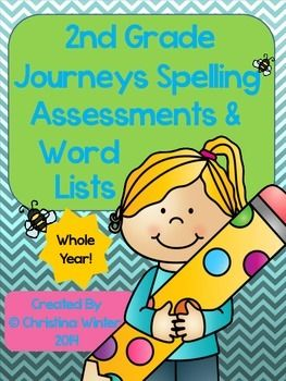 2nd Grade Spelling Assessments and Word Lists EDITABLE {year.