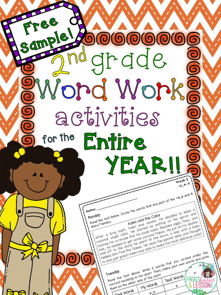 Second Grade Word Work Whole Year.