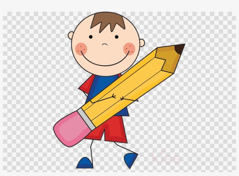 Boy With Pencil Clipart Pencil Paper Clip Art.