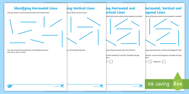 Identifying Horizontal and Vertical Lines Worksheet.