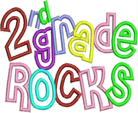First Grade Rocks Clipart.