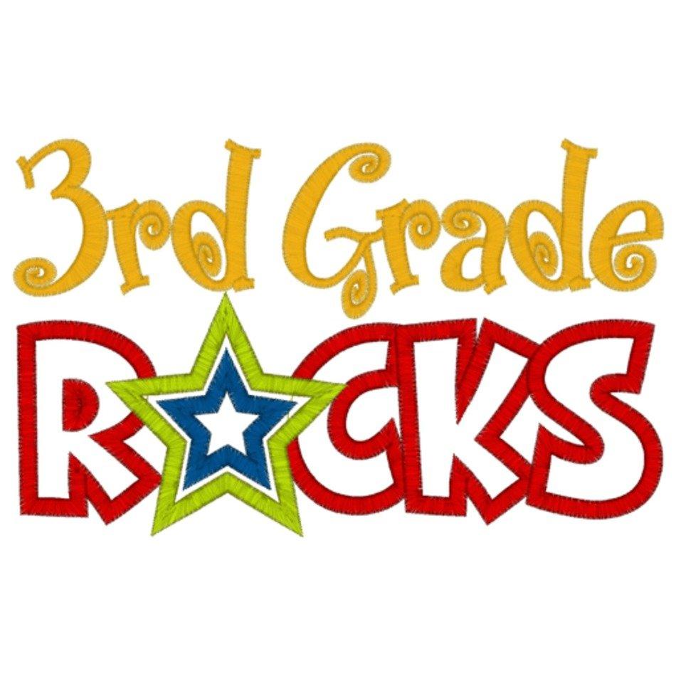 2nd Grade Rocks Clip Art free image.