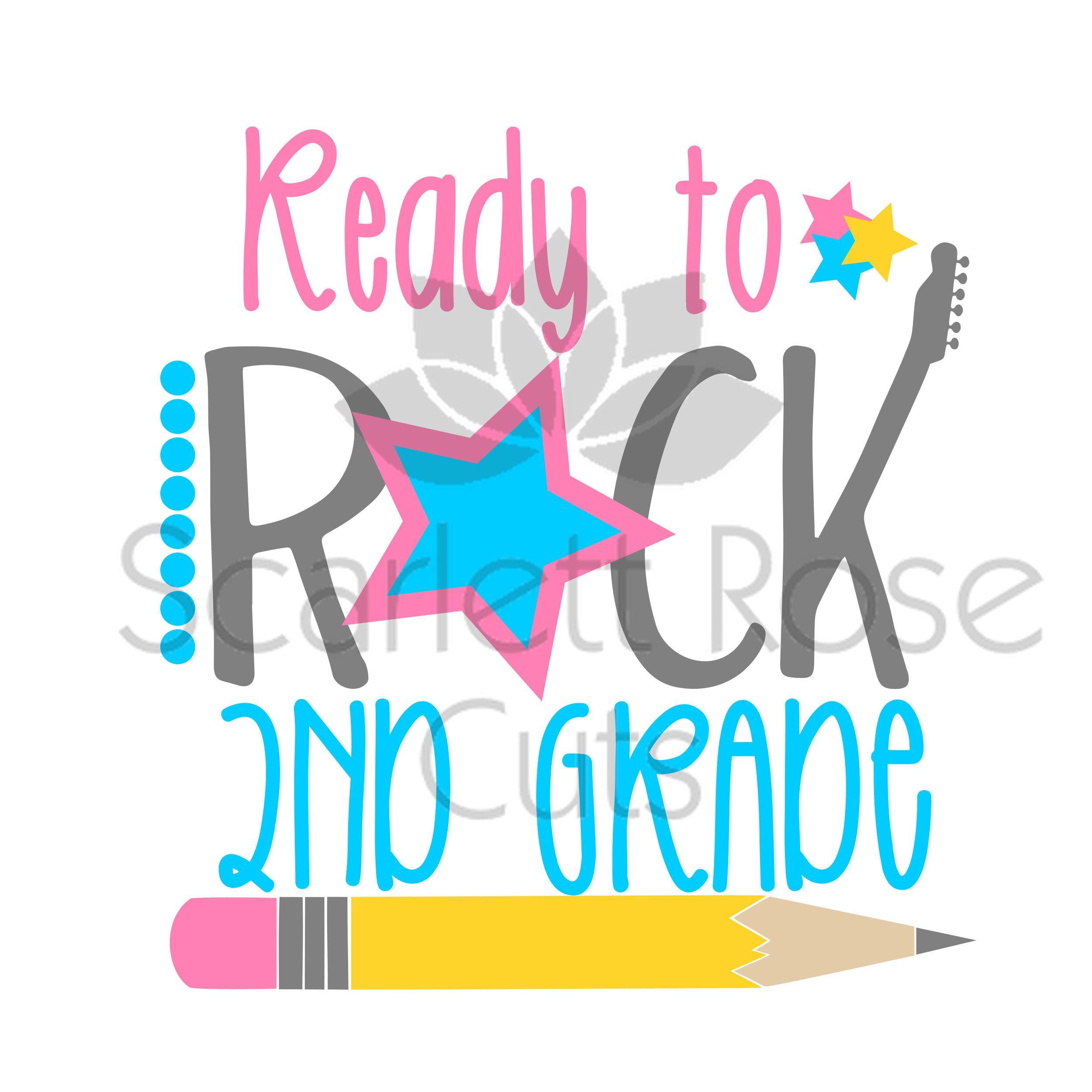 School SVG, Ready to Rock 2nd Grade, School svg, Second Grade SVG.