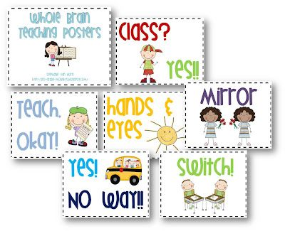 FREE Whole Brain Teaching Posters with Clip Art.