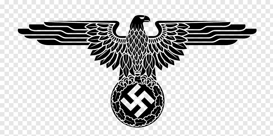 Gray bird logo, Nazi Germany German Empire Second World War.