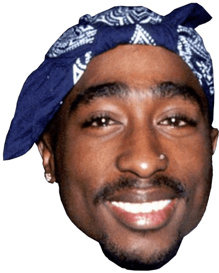 Tupac Face transparent PNG.