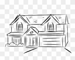 Free PNG House Line Drawing Clip Art Download.