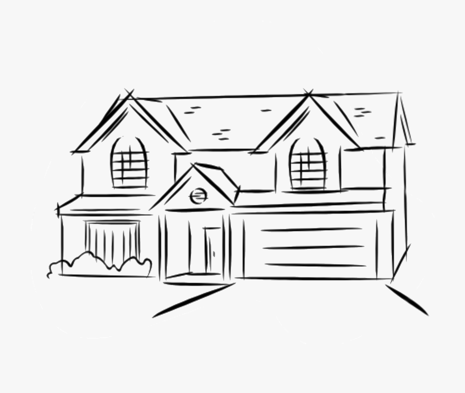 Two Story House Drawing At Getdrawings.