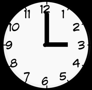 3 O\'clock Clipart.