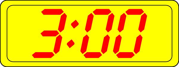 Digital Clock 3:00 Clip Art at Clker.com.
