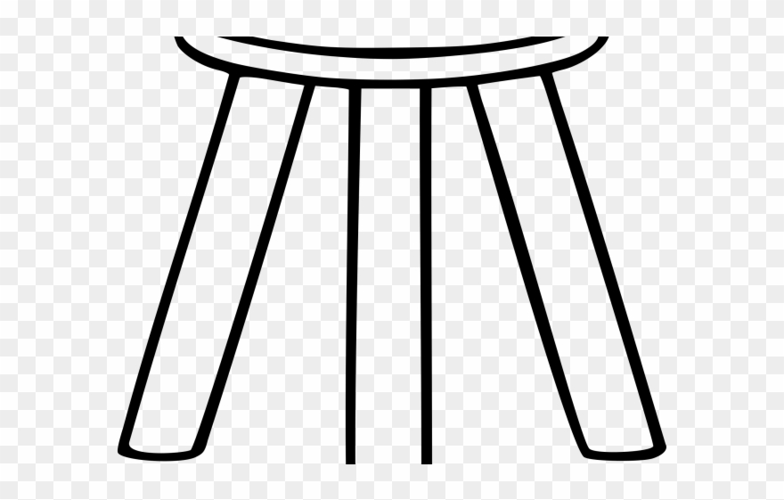 Furniture Clipart 3 Legged Stool.