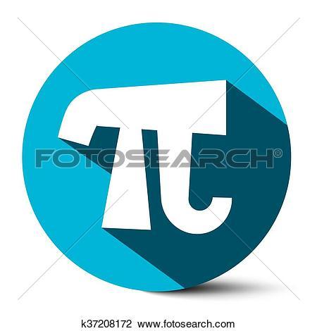 Clipart of Pi Symbol.