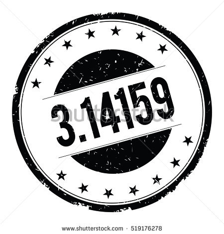 3 14159 Stamp Sign Text Word Stock Illustration 527286244.