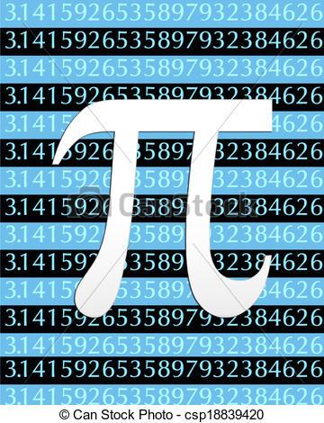 Clip Art of Pi Symbol.