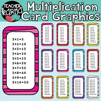 Multiplication Clipart, Times Tables.