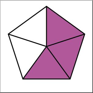 Clip Art: Polygon 05 3/5 Color I abcteach.com.