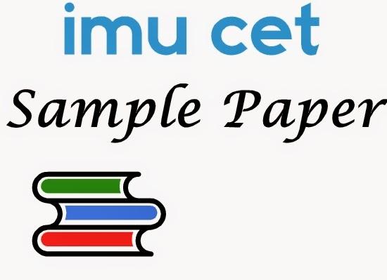 IMU CET Sample Paper 2016.