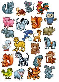 Cartoon animals vector.