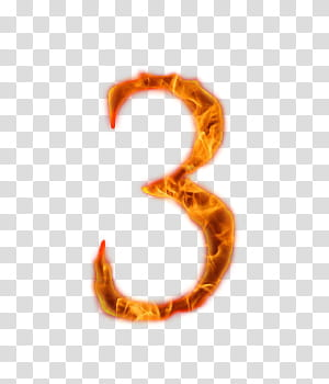 Fire Number , flame illustration transparent background PNG.