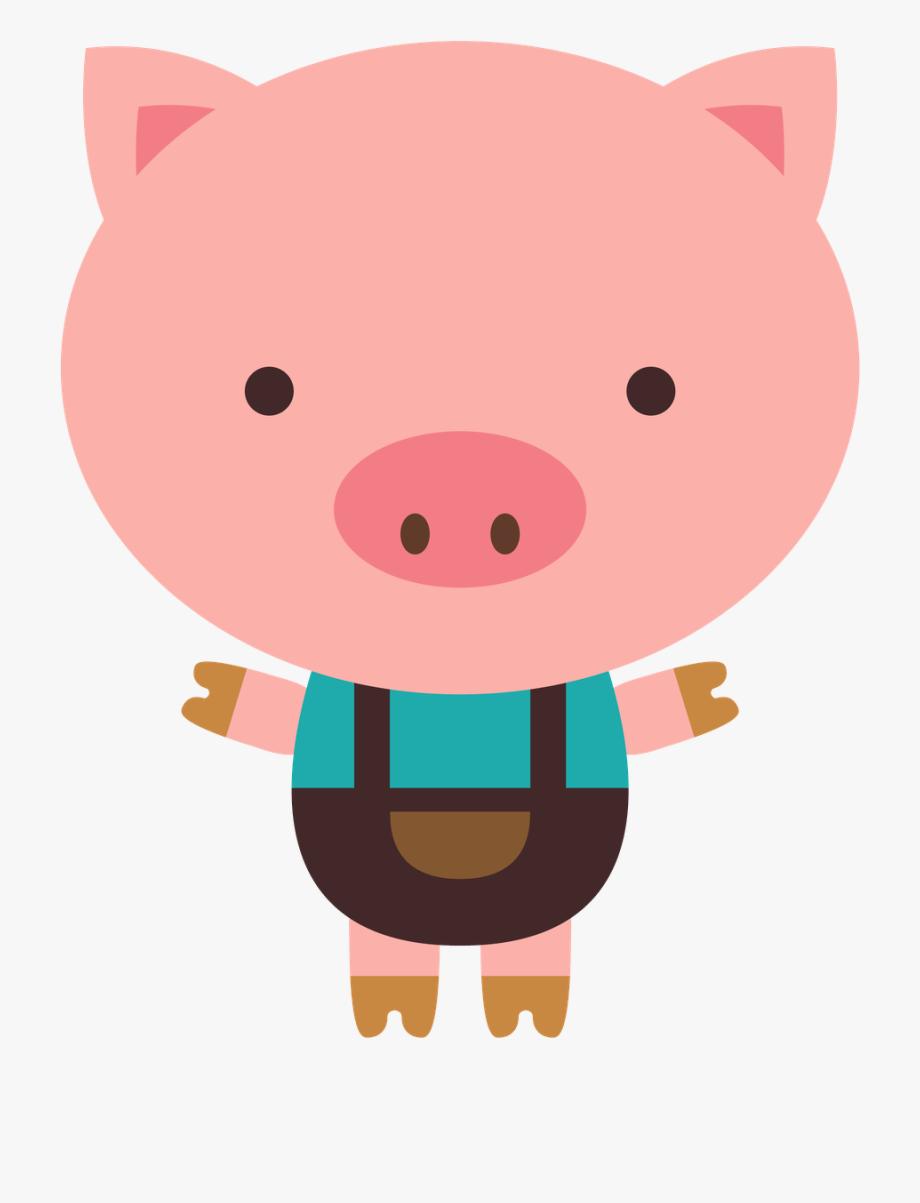 Pig Illustration, Cute Clipart, Art Plastique, Paper.