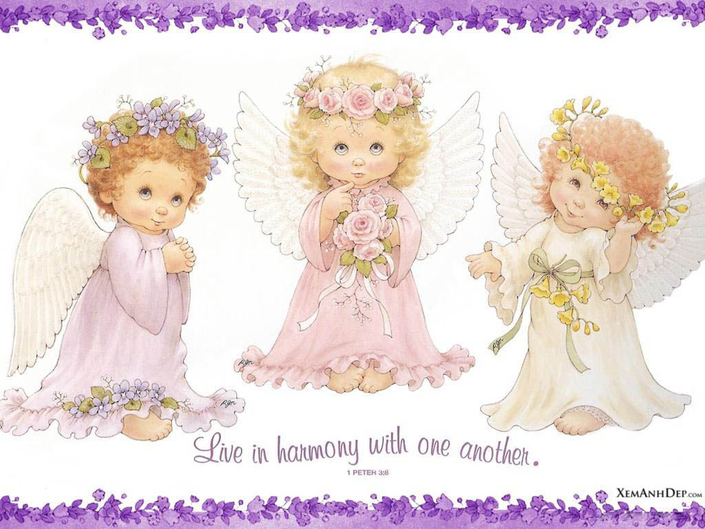 1742 Angels free clipart.