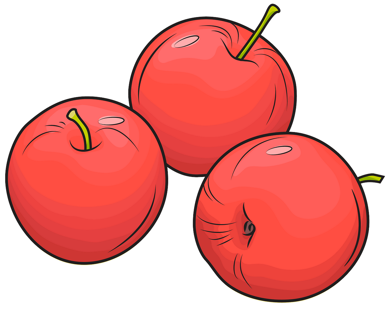 Apples clipart. Free download..