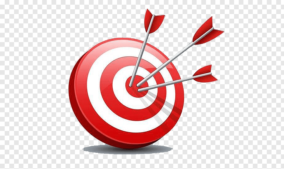 Three arrows on cherry target, Darts Shooting target.