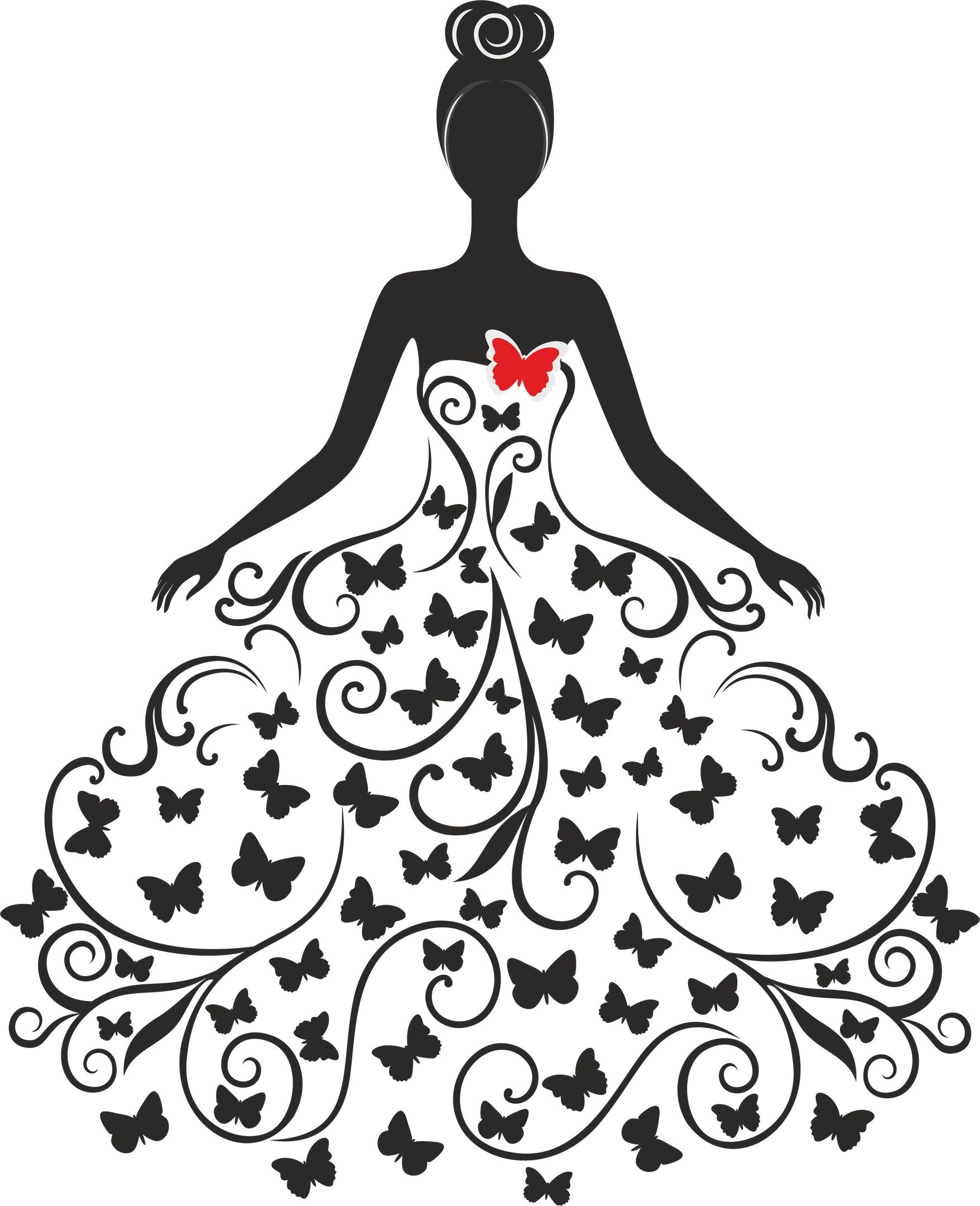 Wedding Silhouette Free Vector cdr Download.