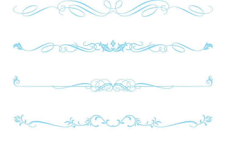 Blue clipart divider, Blue divider Transparent FREE for.