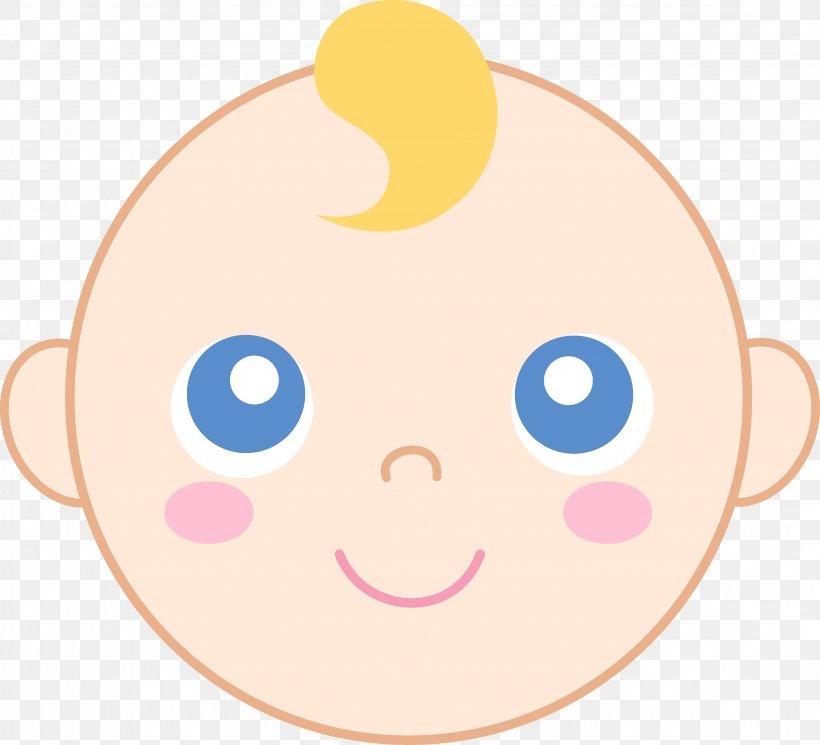 Infant Smiley Child Face Clip Art, PNG, 4312x3922px.