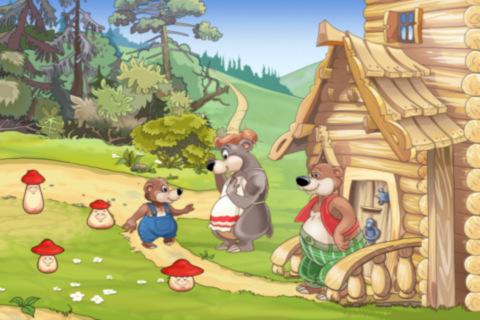 The three bears were going for a walk, Goldilocks.